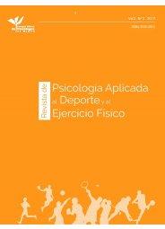 Revista de Psicología Aplicada al Deporte y el Ejercicio Físico